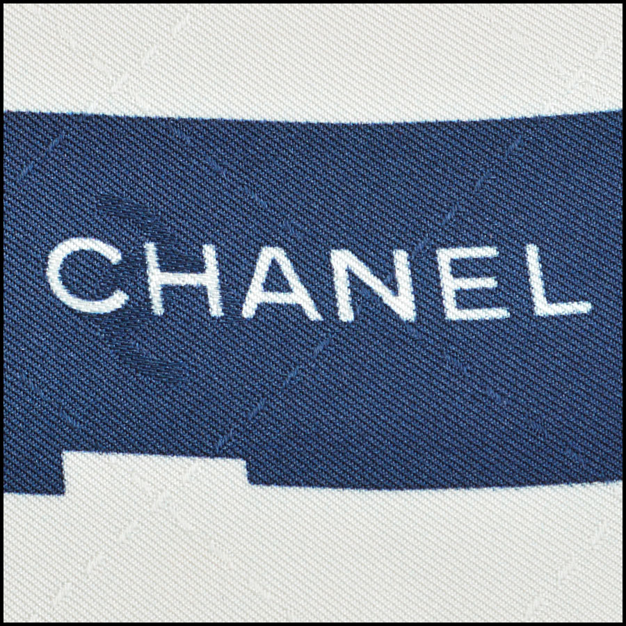 RDC8739 Chanel white vision board scarf tag 3