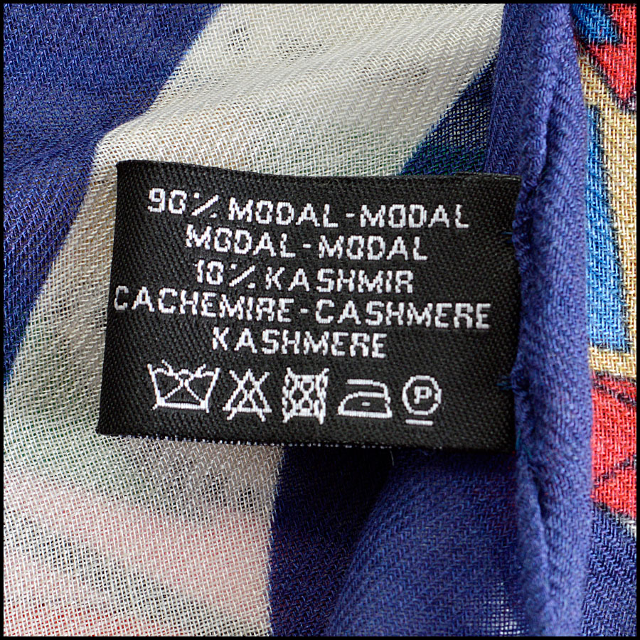 RDC8007 Chanel Blue/Multi Air Traffic and logo shawl tag 1