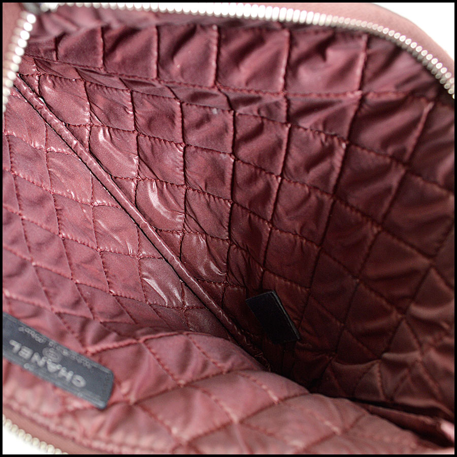 RDC8160 Chanel Black Quilted Nylon 'O' Case inside