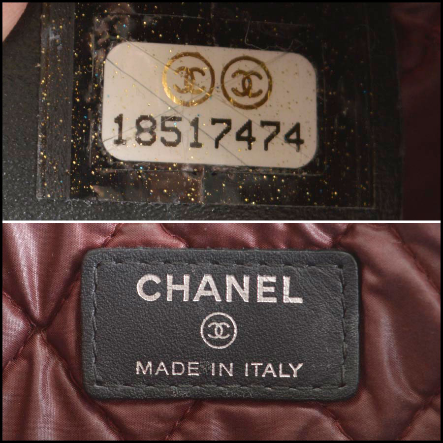RDC8160 Chanel Black Quilted Nylon 'O' Case tag one