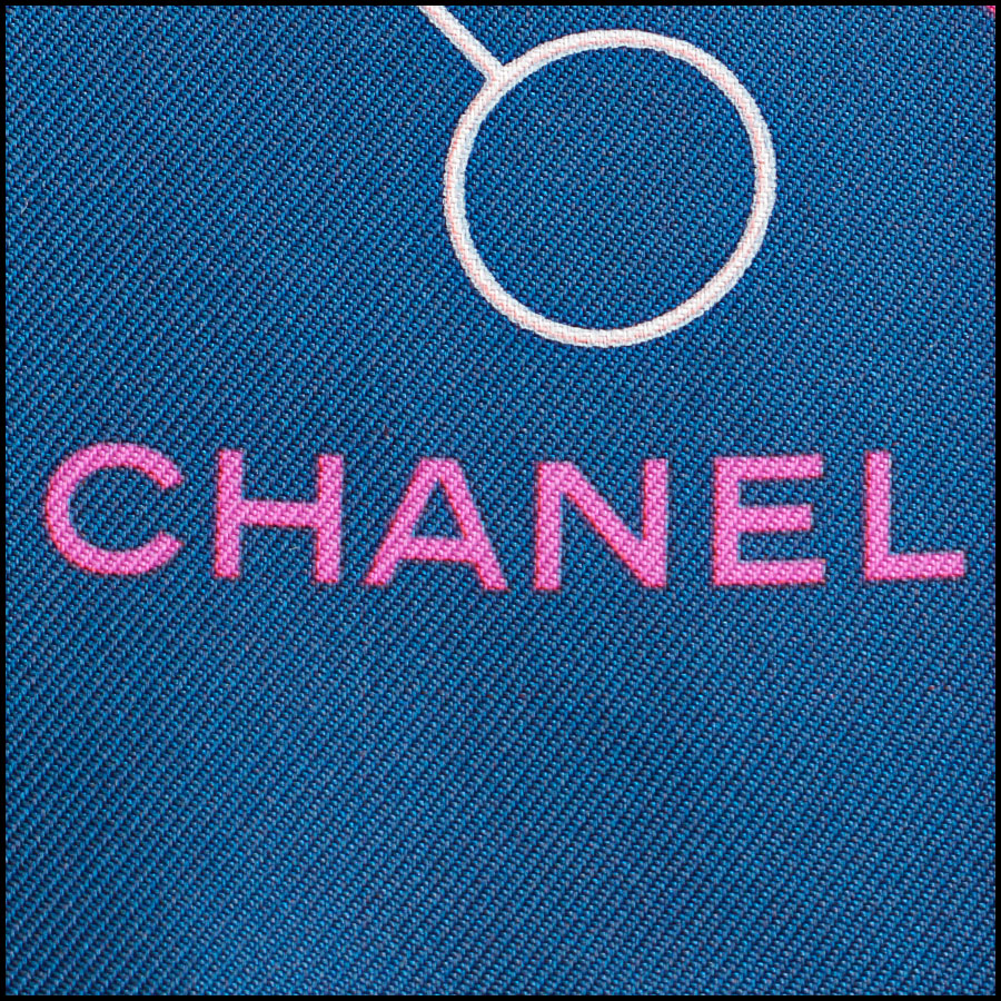 RDC8746 Chanel Computer Chip Scarf tag 3