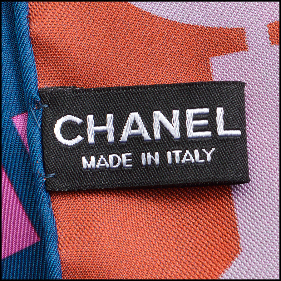 RDC8746 Chanel Computer Chip Scarf tag 2