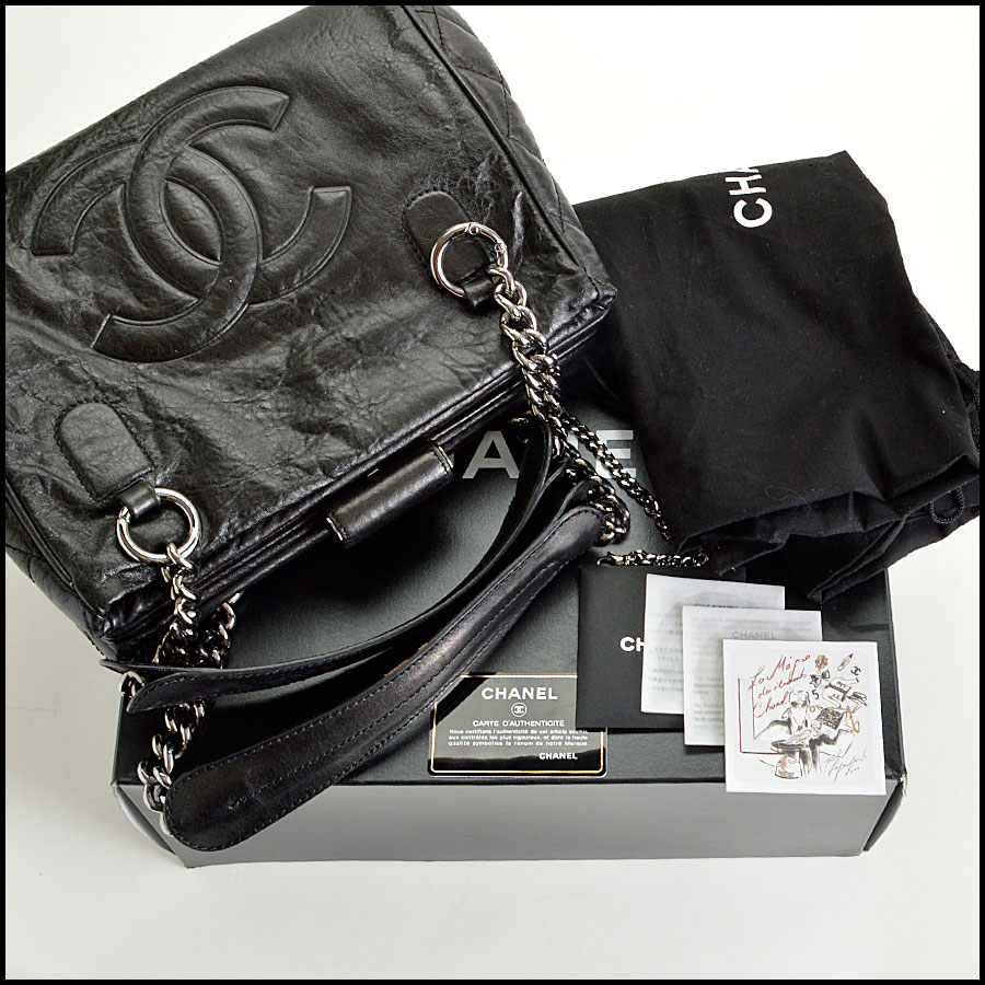 RDC7935 Chanel Black Perfect Day Hand bag extras