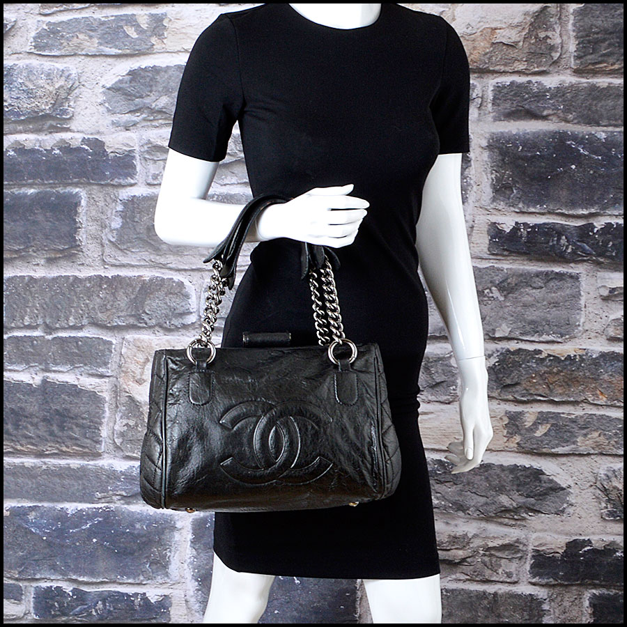 RDC7935 Chanel Black Perfect Day Hand bag model