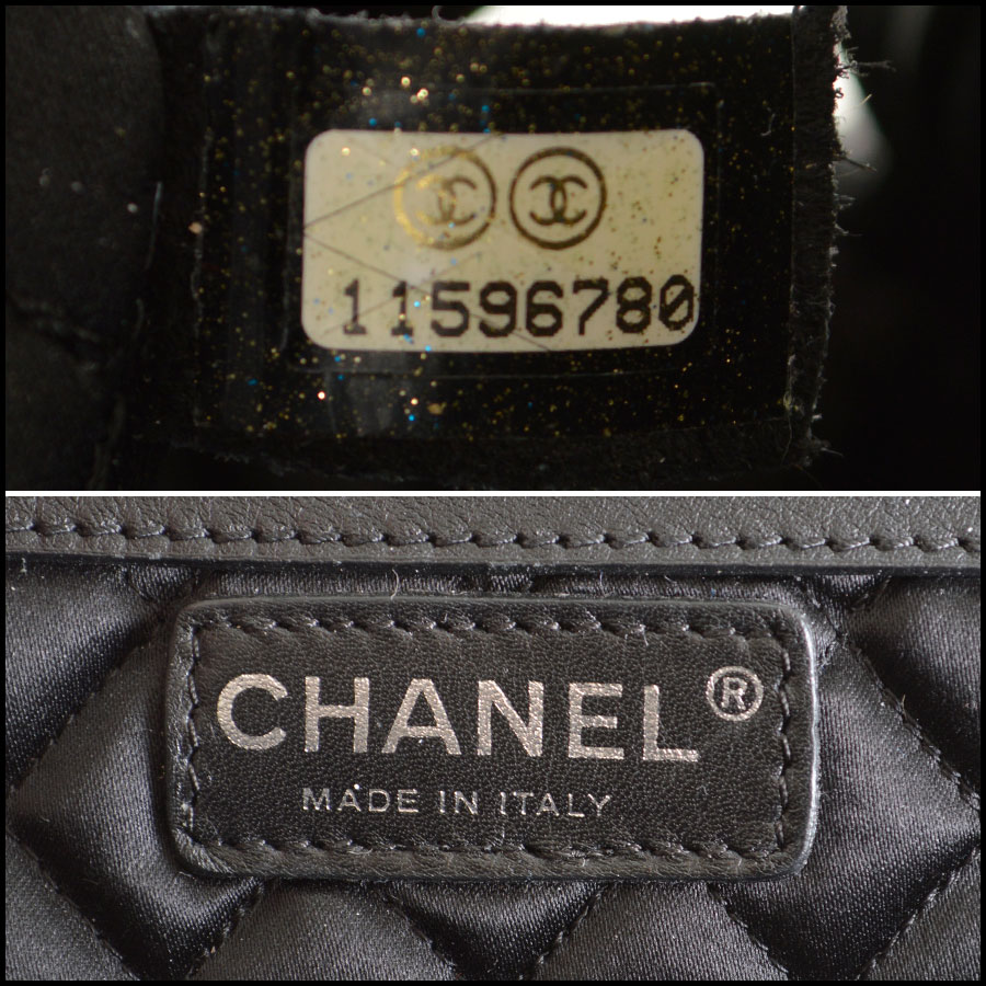 RDC7935 Chanel Black Perfect Day Hand bag tag