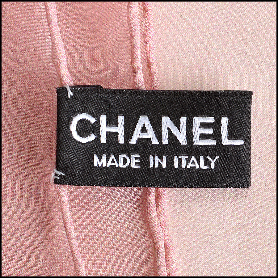Chanel Grey and Blue Earth GM Shawl Scarf tag