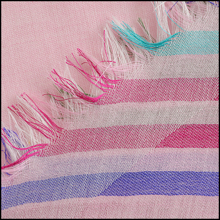 RDC8774 Chanel striped Triangle Scarf close up