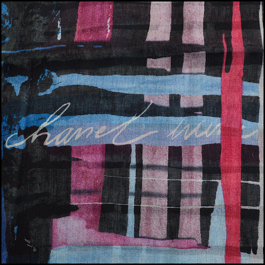RDC8779 Chanel Brush Stroke Shawl signature