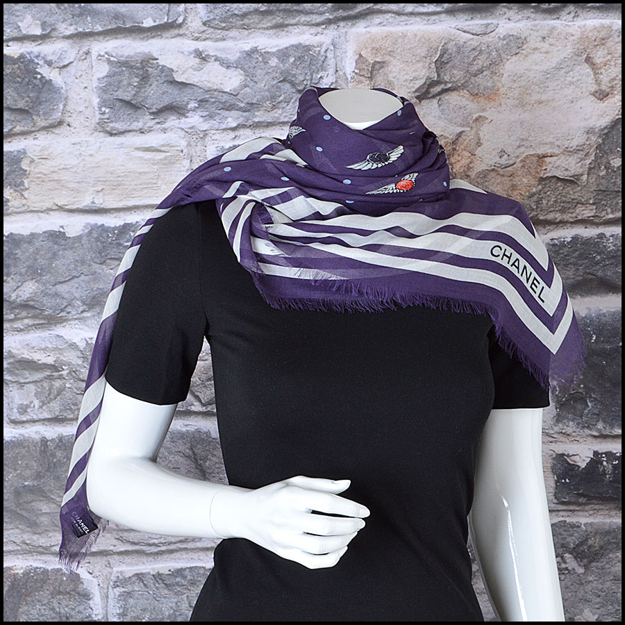 RDC8018 Chanel Airlines Flying Wings Scarf model