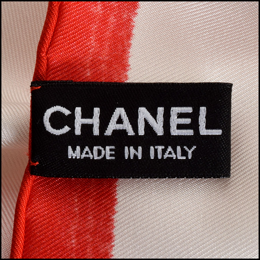 RDC9042 Chanel Front Row Scarf tag 2