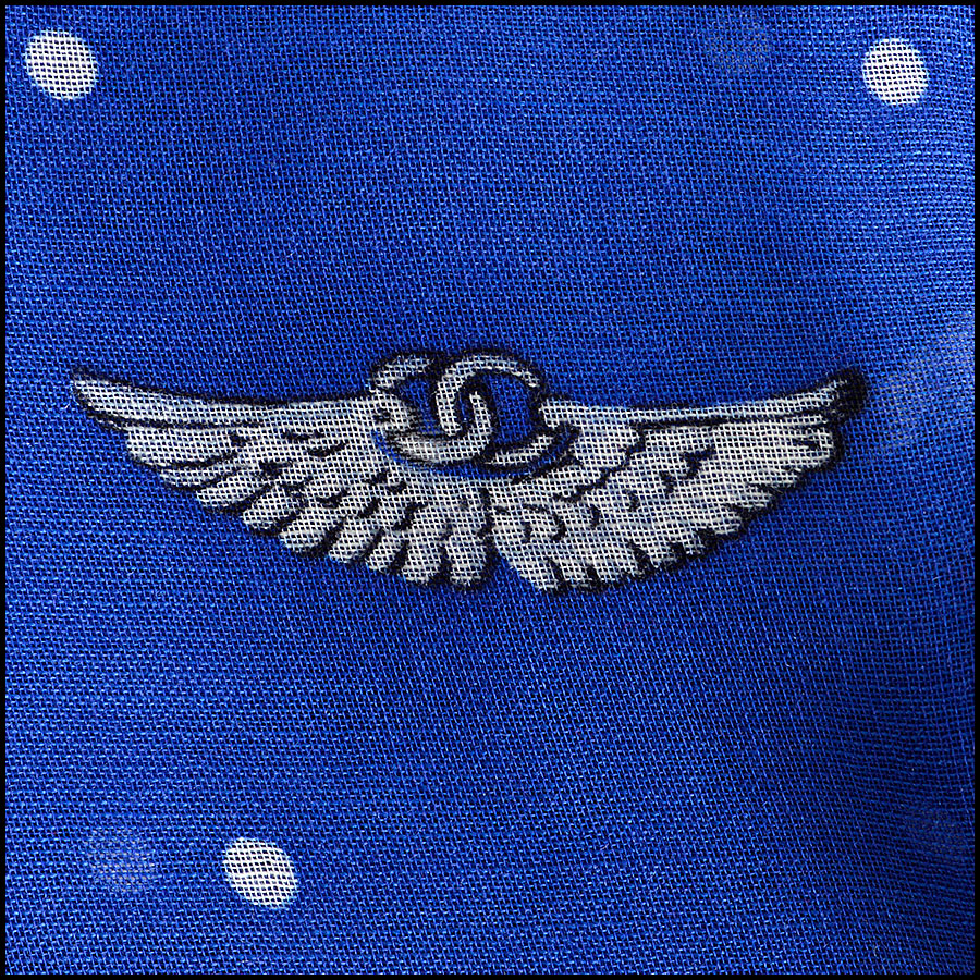 RDC8017 Chanel Airlines Shawl close up