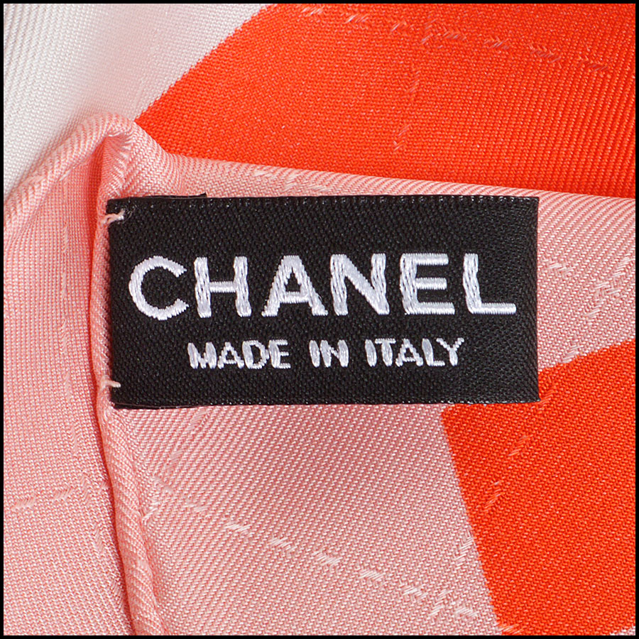 RDC8743 Chanel sorbet pixalated scarf tag 1