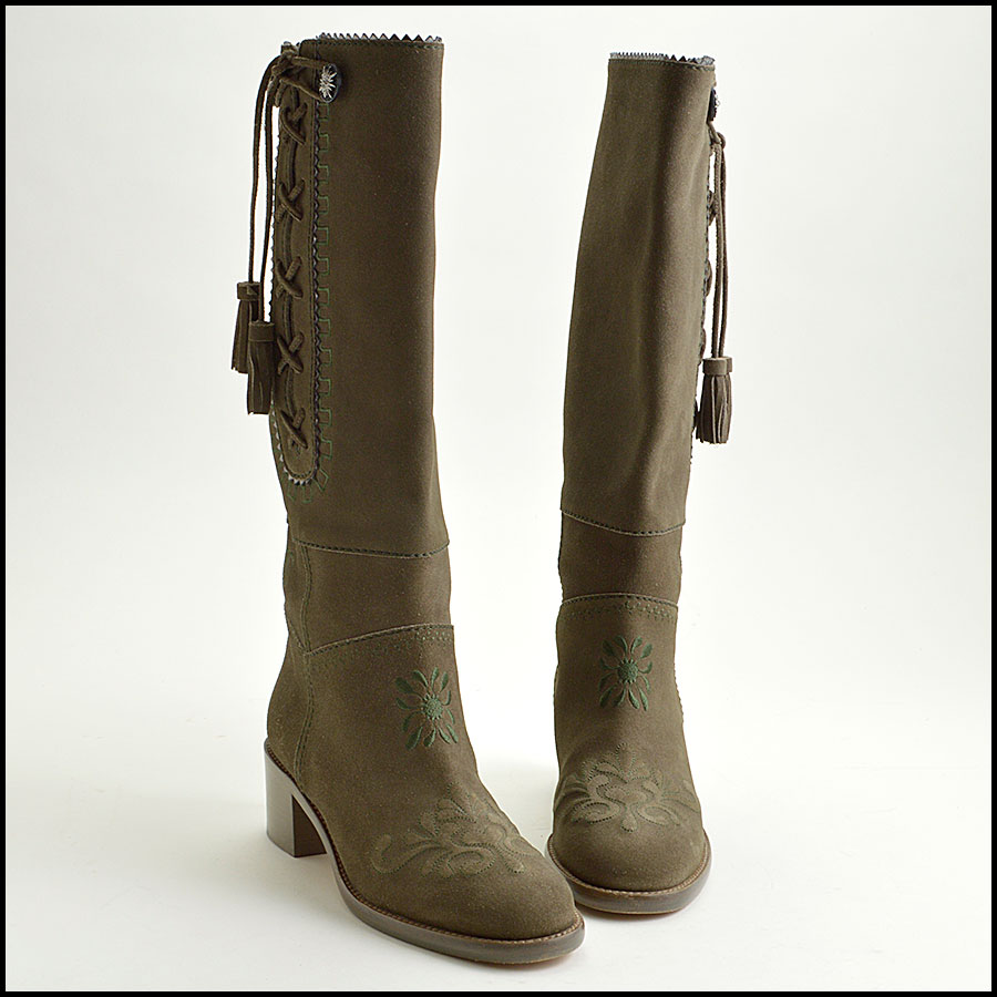 RDC8858 Chanel Green Boots