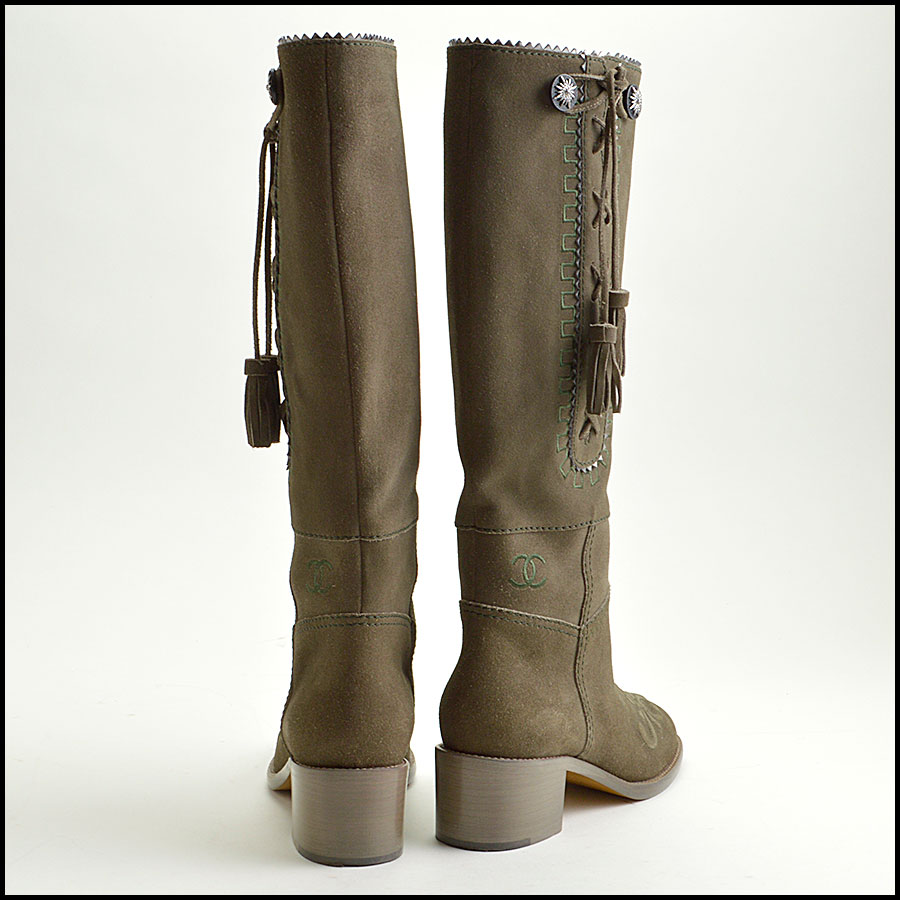 RDC8858 Chanel Green Boots back