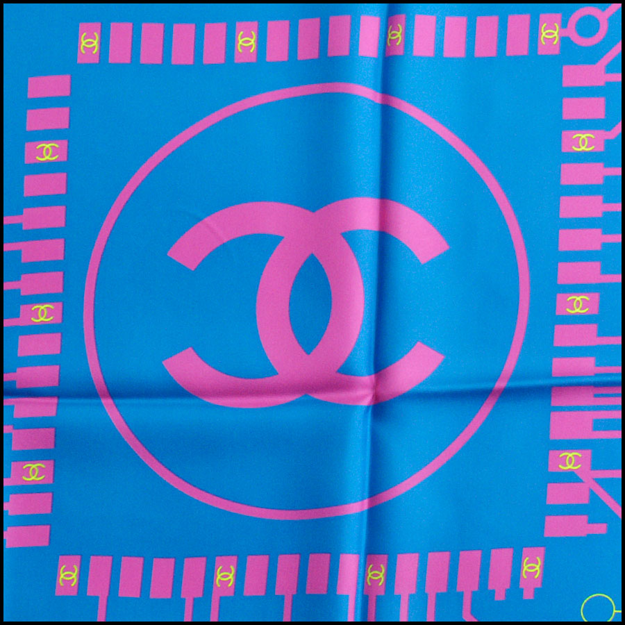 RDC8747 Chanel Computer Chip Scarf tag 3