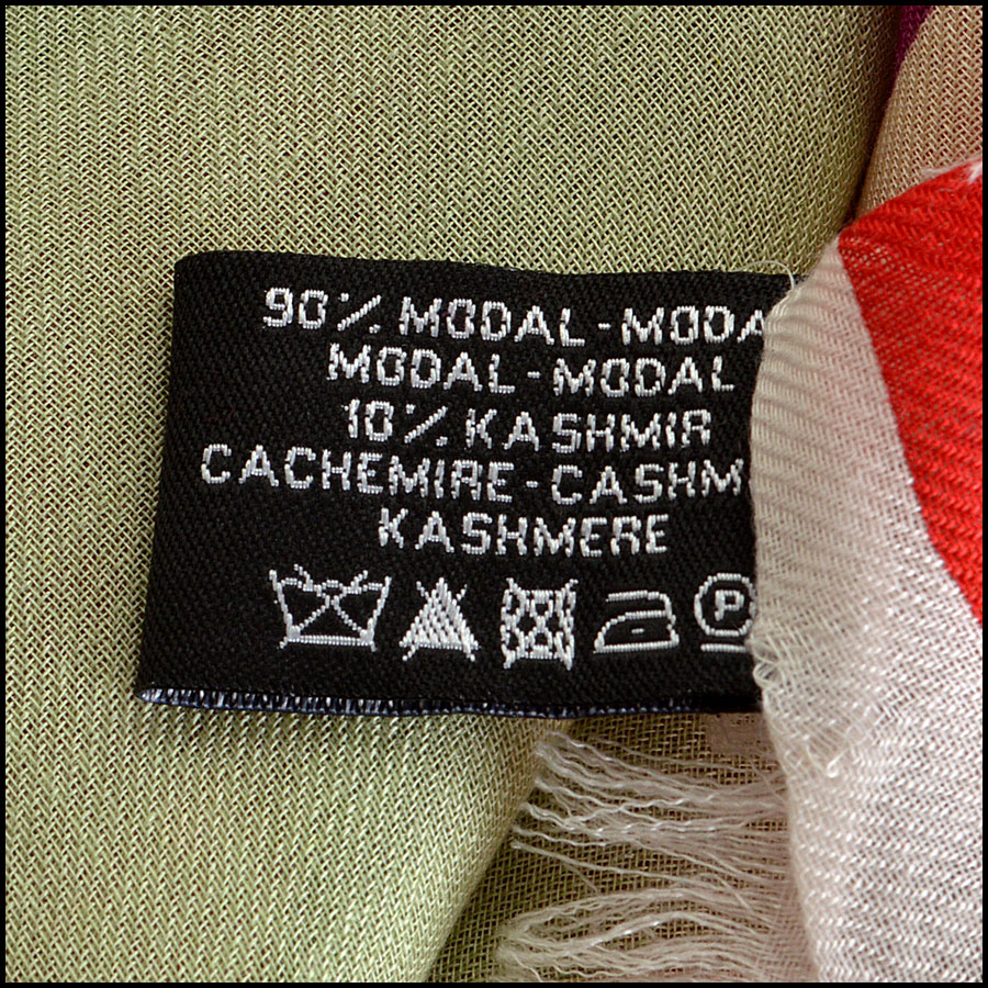 Chanel Multicolor GM Shawl Scarf logo tag