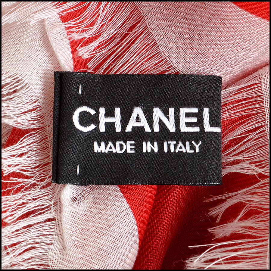 Chanel Multicolor GM Shawl Scarf tag