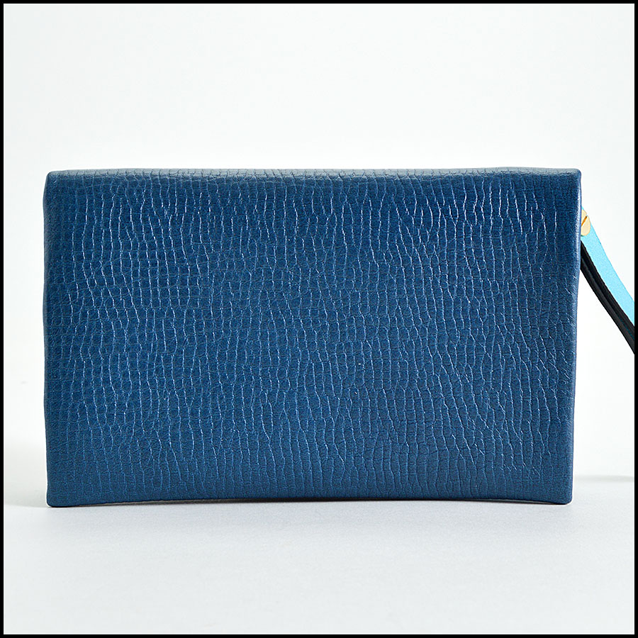 Chloe Blue Small Foldover Wallet Handbag Back