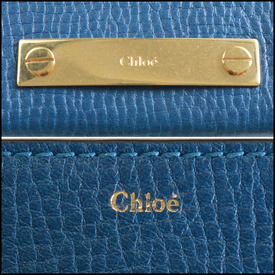 Chloe Blue Small Foldover Wallet Handbag Tag