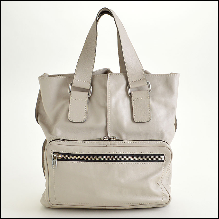 RDC7764 Chloe Grey Leather Tote back