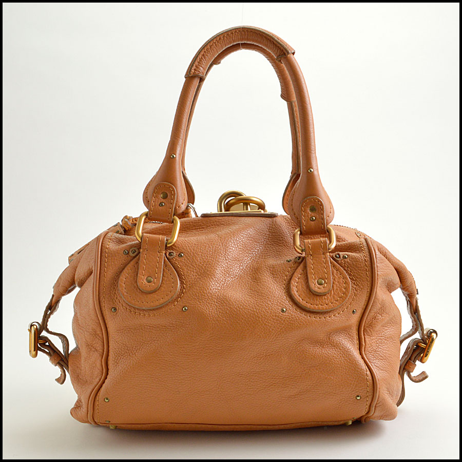 RDC8908 Chloe Tan Paddington Satchel back