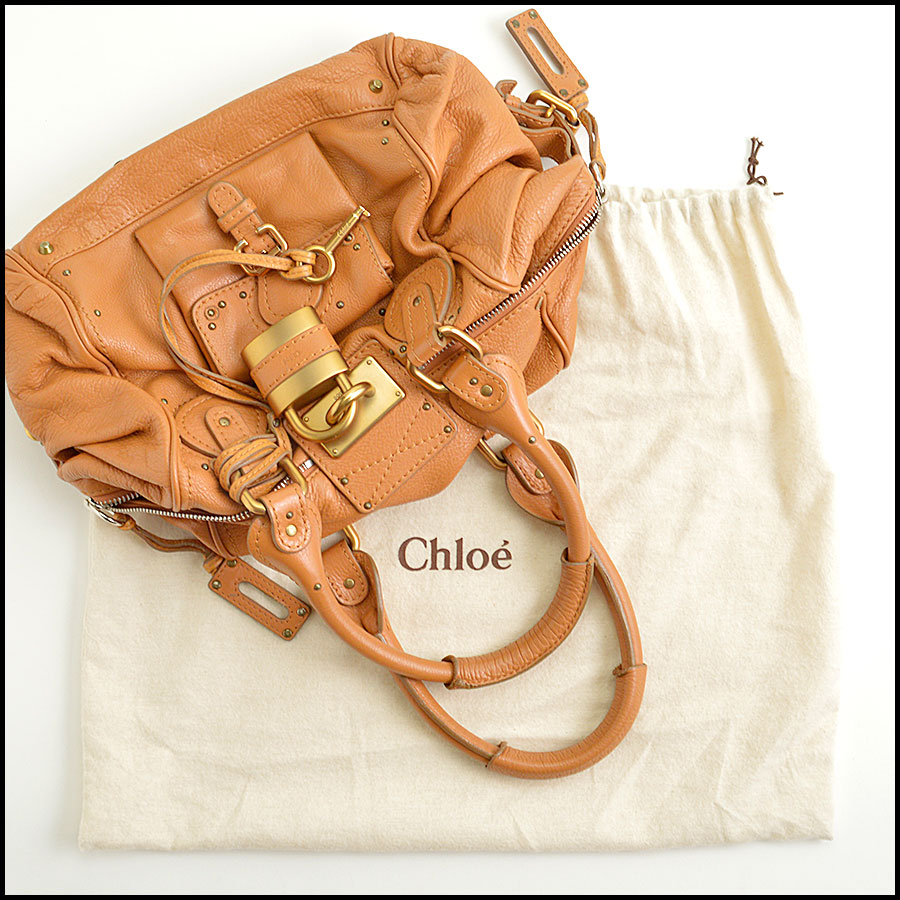 RDC8908 Chloe Tan Paddington Satchel includes