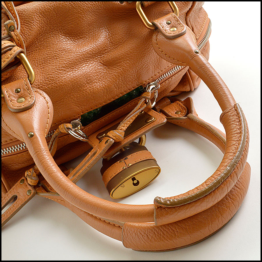 RDC8908 Chloe Tan Paddington Satchel handle