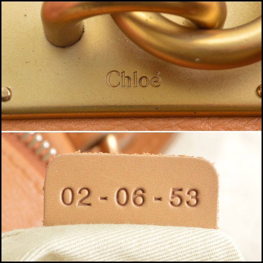 RDC8908 Chloe Tan Paddington Satchel tag 2