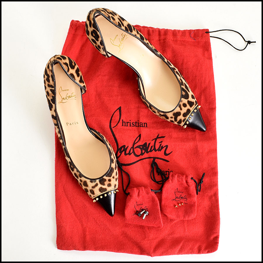 RDC9152 Louboutin Pony Hair Heels includes