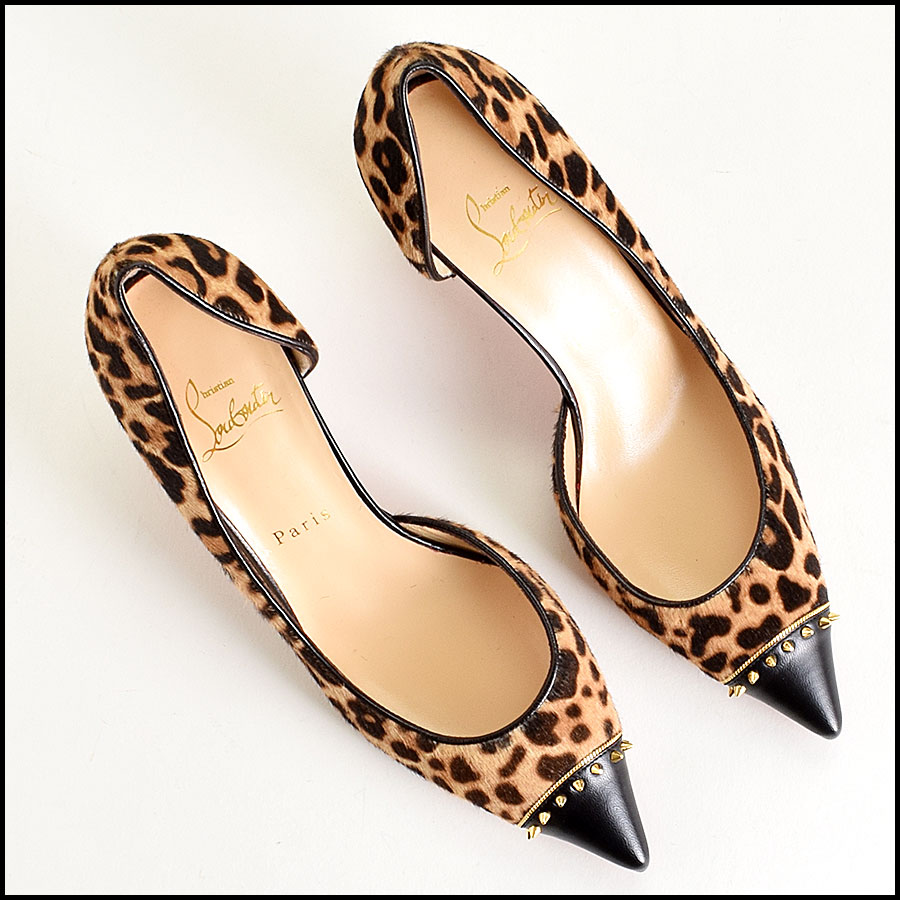 RDC9152 Louboutin Pony Hair Heels top