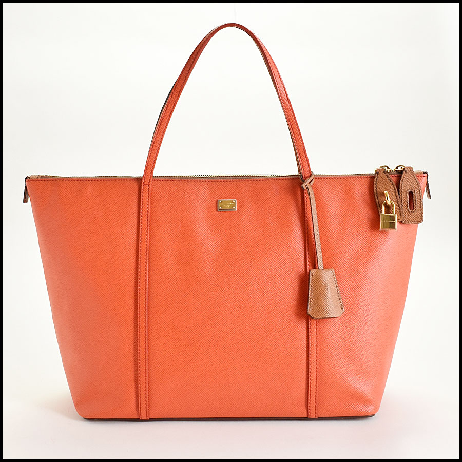 RDC9371 Dolce and Gabbana Orange/Tan Tote Bag