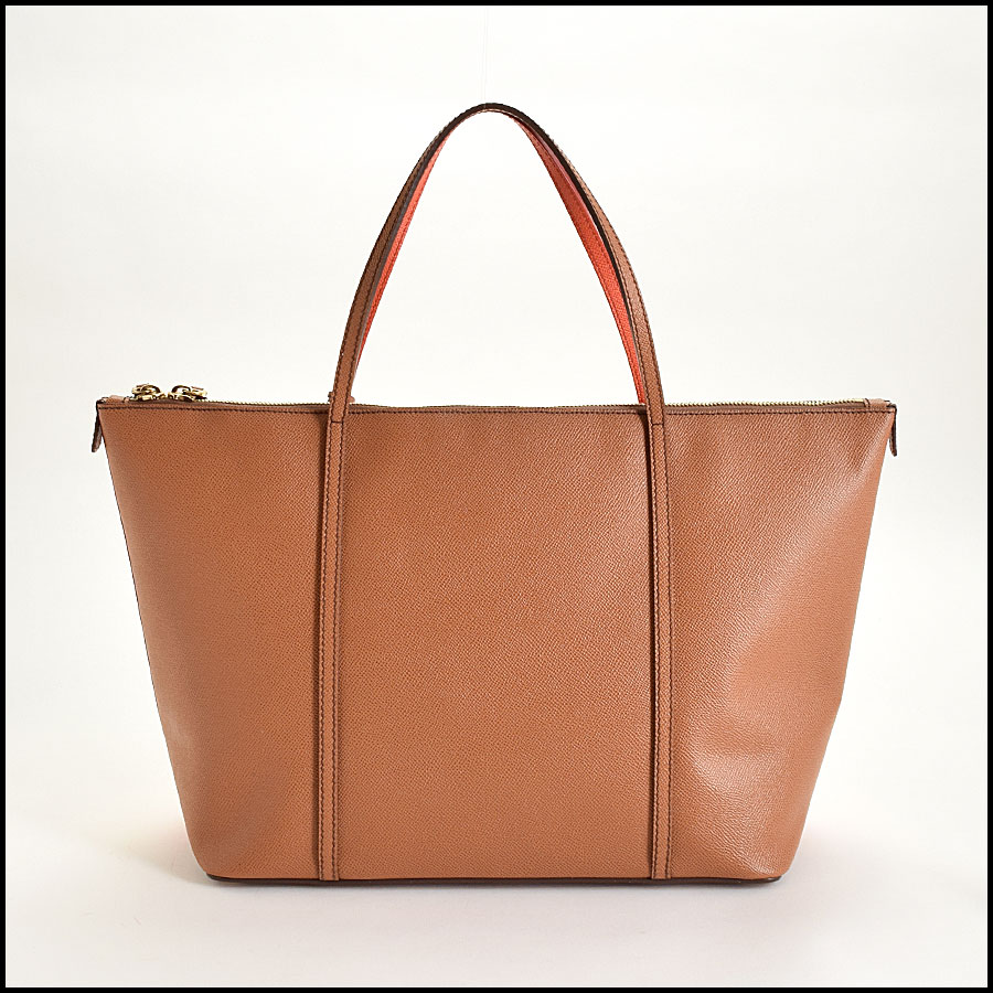 RDC9371 Dolce and Gabbana Orange/Tan Tote Bag back