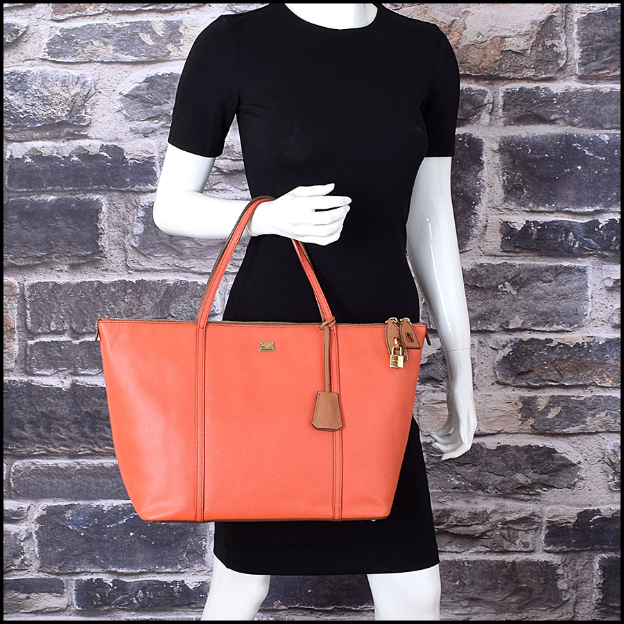 RDC9371 Dolce and Gabbana Orange/Tan Tote Bag model