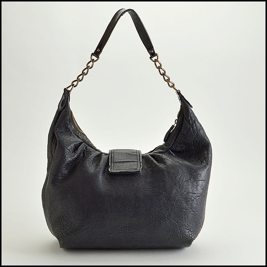 RDC8360 Fendi Black Hobo B Bag back