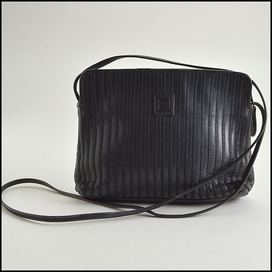 RDC8607 vintage fendi black crossbody