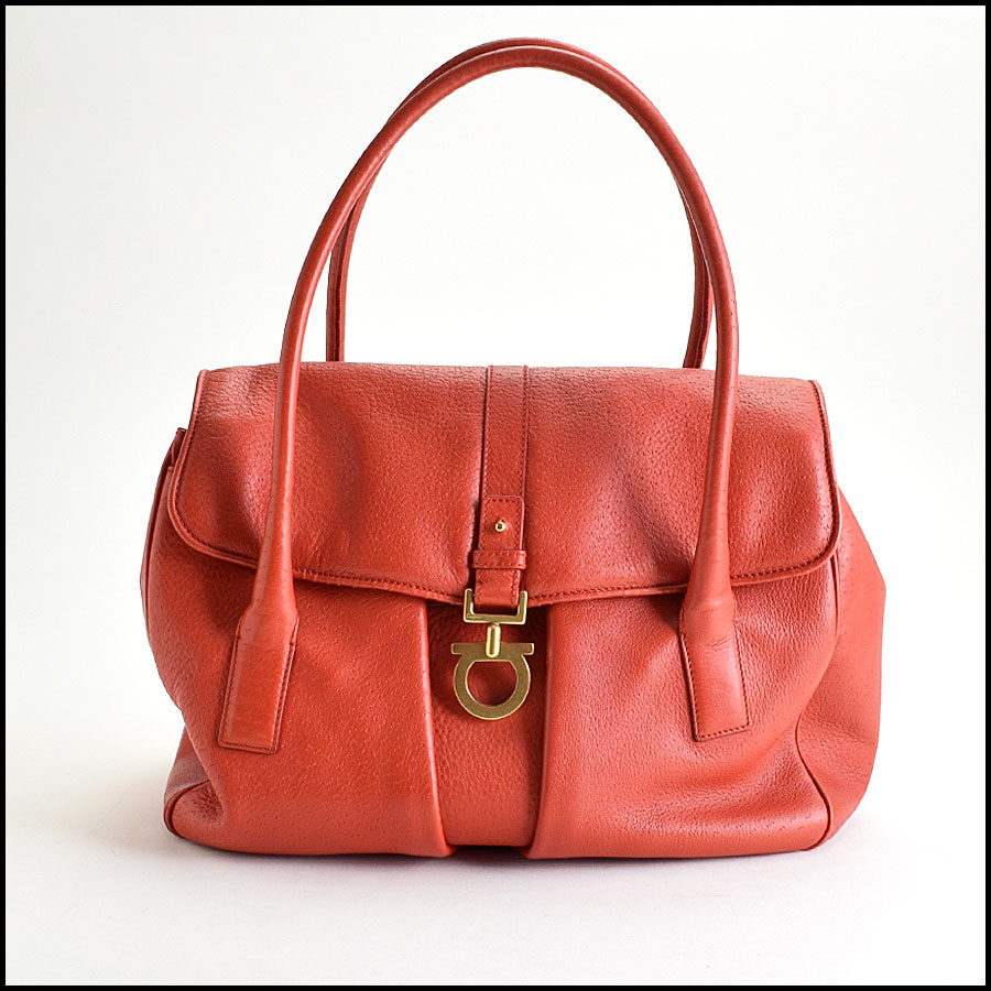 RDC9455 Salvatore Ferragamo Red Pigskin Leather Shoulder Bag