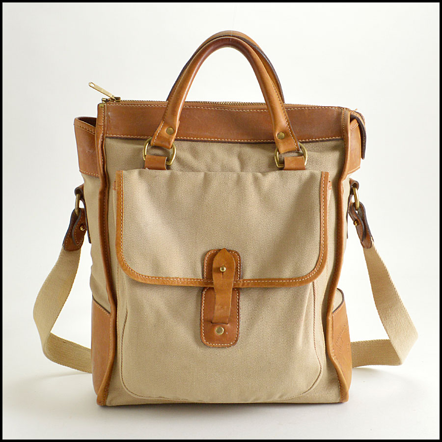 RDC8376 Ghurka Beige and Tan The Overlander shopper Tote