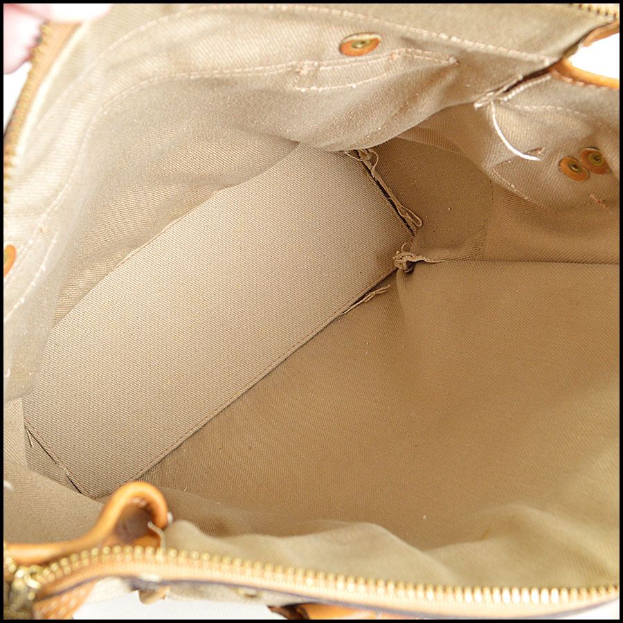 RDC8376 Ghurka Beige and Tan The Overlander shopper Tote inside