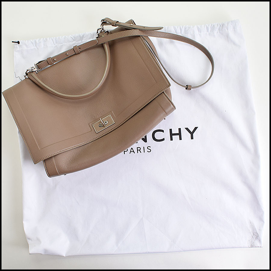 RDC9514 Givenchy Etoupe Large Shark Tooth Satchel  includes