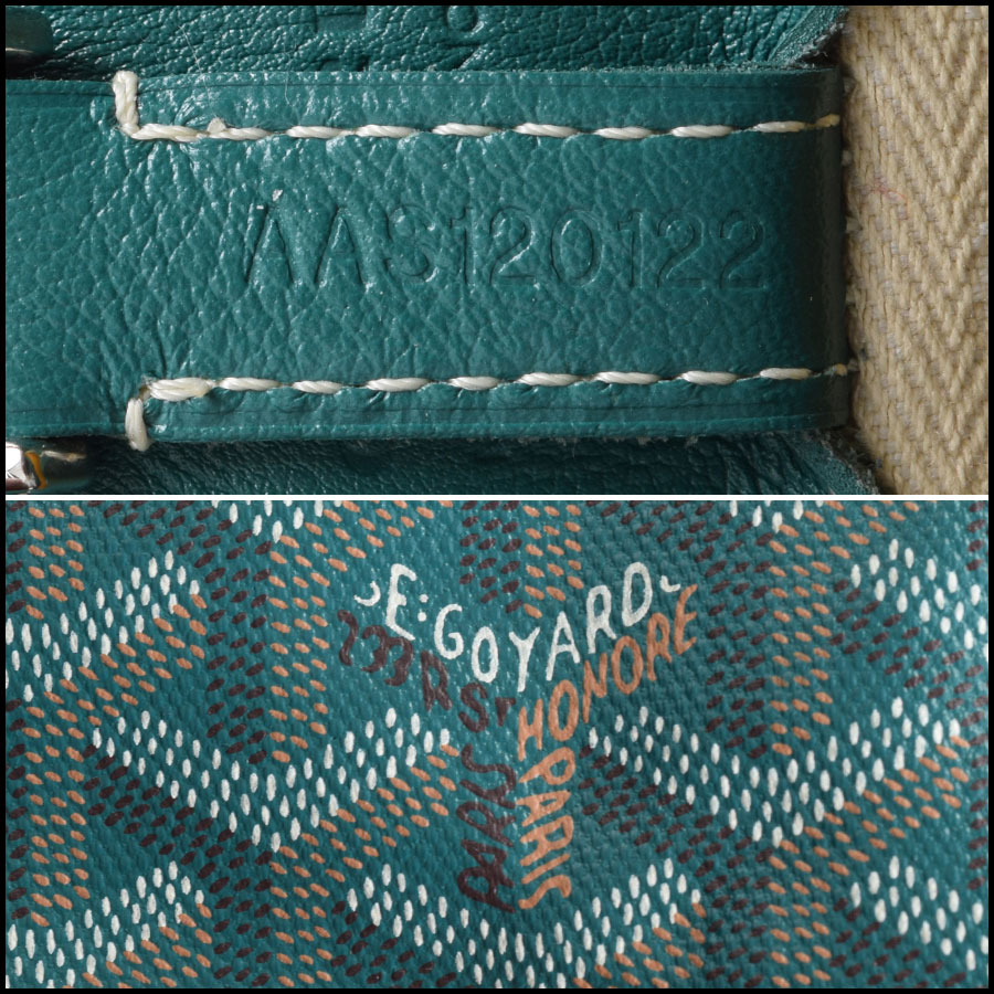 RDC9620 Goyard Green Limited Edition Smile Tote tag 3