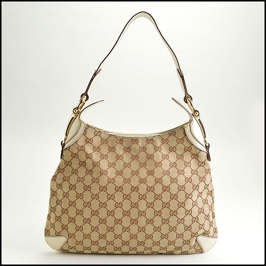 RDC8577 Gucci Beige GG Canvas Creole Hobo Bag