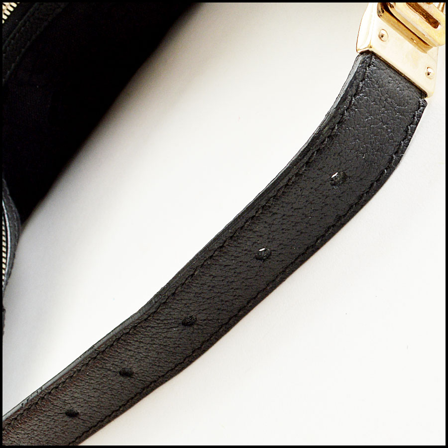 Gucci Black Horsebit Hobo Bag Handle