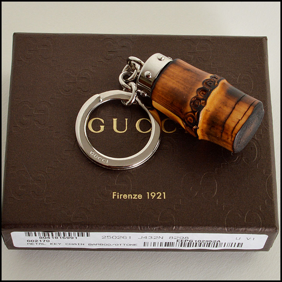RDC6962 Gucci Bamboo key chain and purse charm