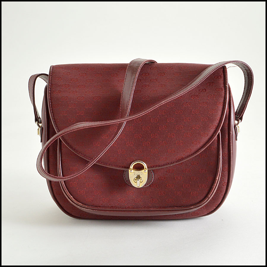RDC8359 gucci vintage burgundy crossbody bag