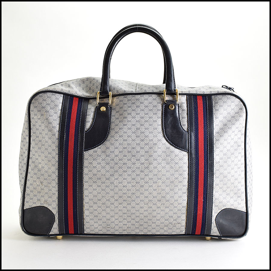 RDC9445 Gucci Navy GG Monogram Suitcase  back