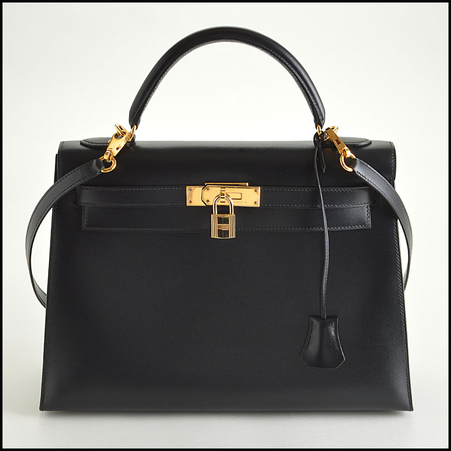 RDC7897 Hermes Black Box leather sellier kelly