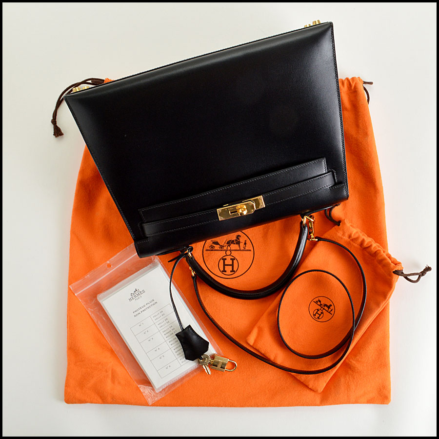 RDC7897 Hermes Black Box leather sellier kelly extras