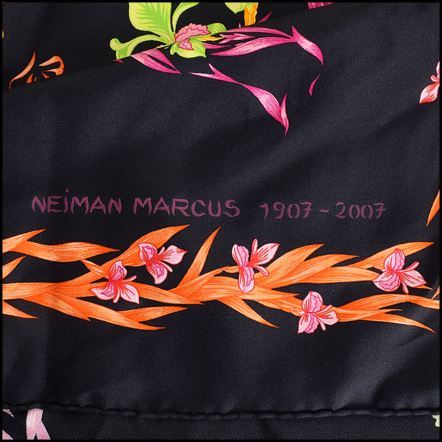 RDC9264 Hermes Black Cheval Scarf title