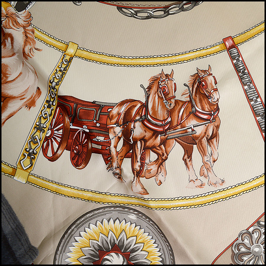 RDC9807 Hermes Chevaux Scarf Close Up 2