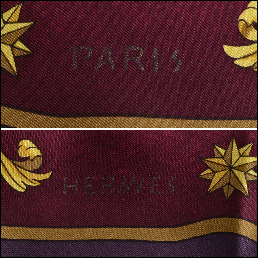 RDC7825 Hermes Purple and Red Cosmos 90cm Silk Twill Scarf logo